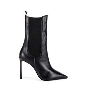 Schutz Zarina Chelsea Point Toe Leather Heel Boot